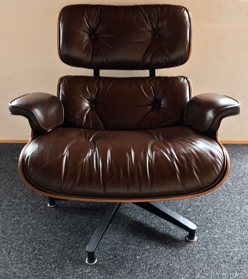 Lounge chair and ottoman set by charles ray eames for - Herman miller eames lounge chair and ottoman ...