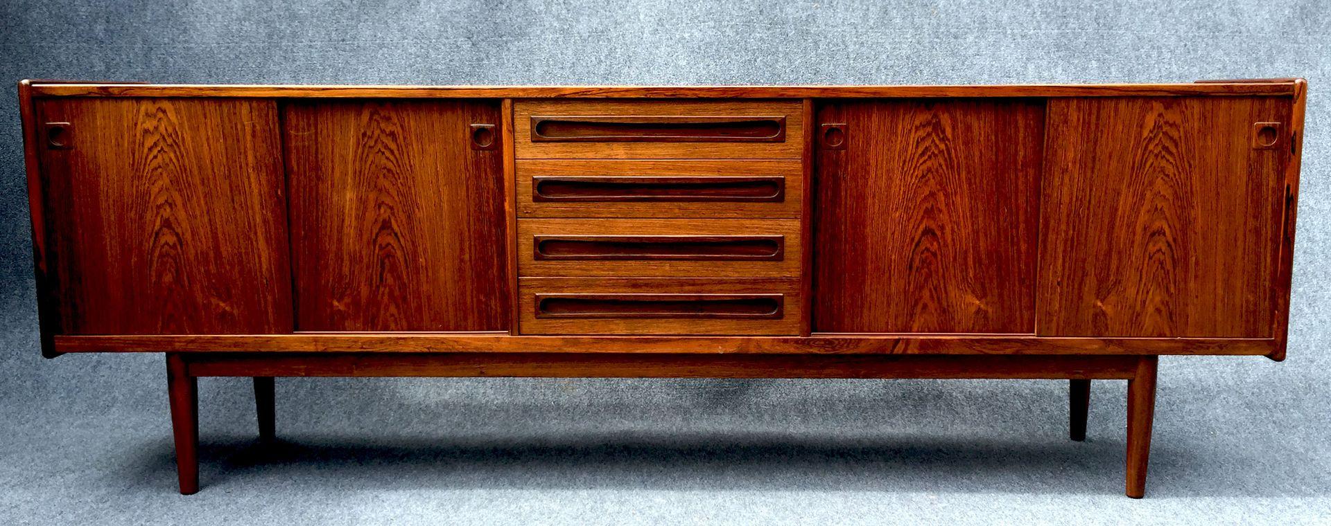 gro es d nisches palisander sideboard bei pamono kaufen. Black Bedroom Furniture Sets. Home Design Ideas