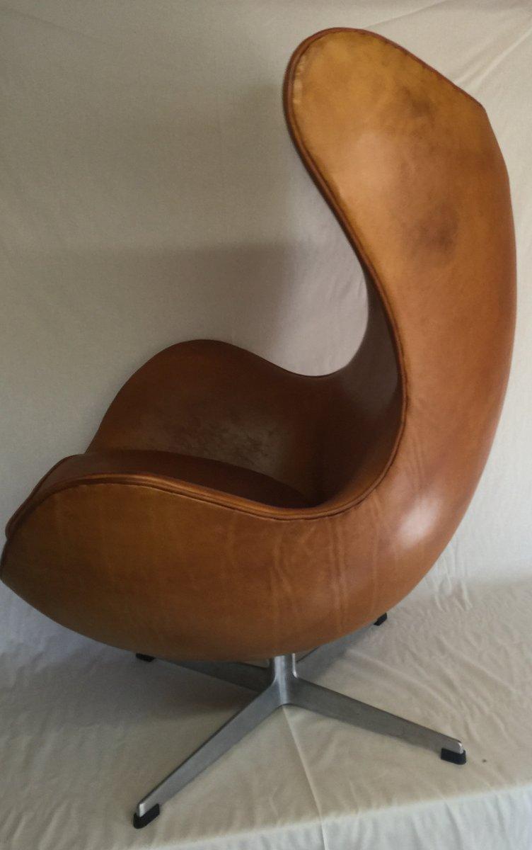 egg chairs von arne jacobsen f r fritz hansen 1963 2er set bei pamono kaufen. Black Bedroom Furniture Sets. Home Design Ideas