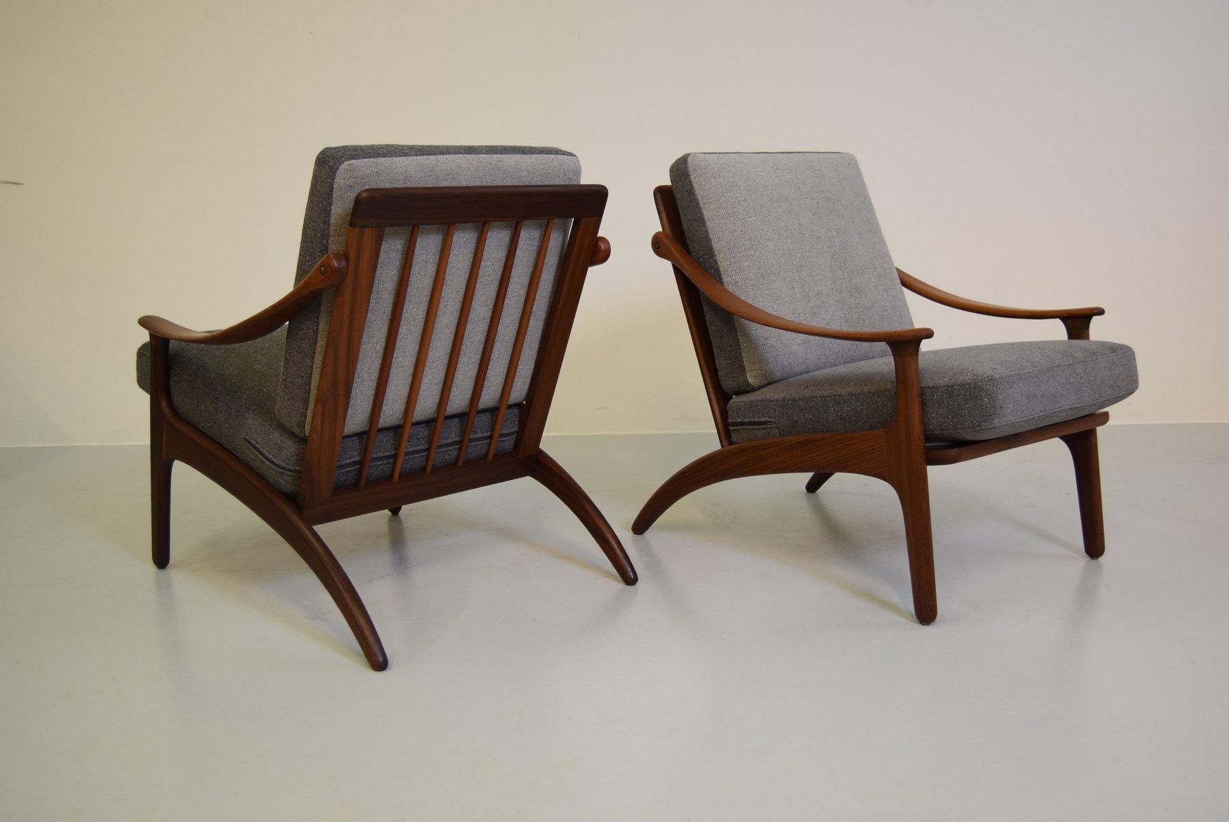 Sofa and Chairs Set by Arne Hovmand Olsen for P Mikkelsen for