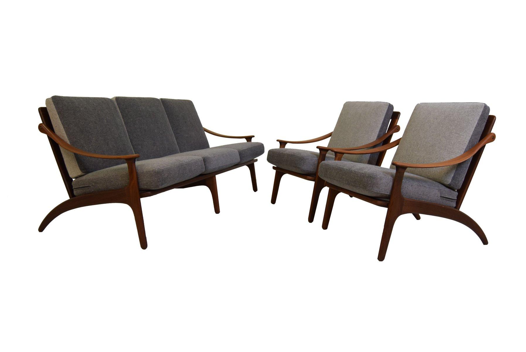 Sofa And Chairs Set By Arne Hovmandolsen For P Mikkelsen