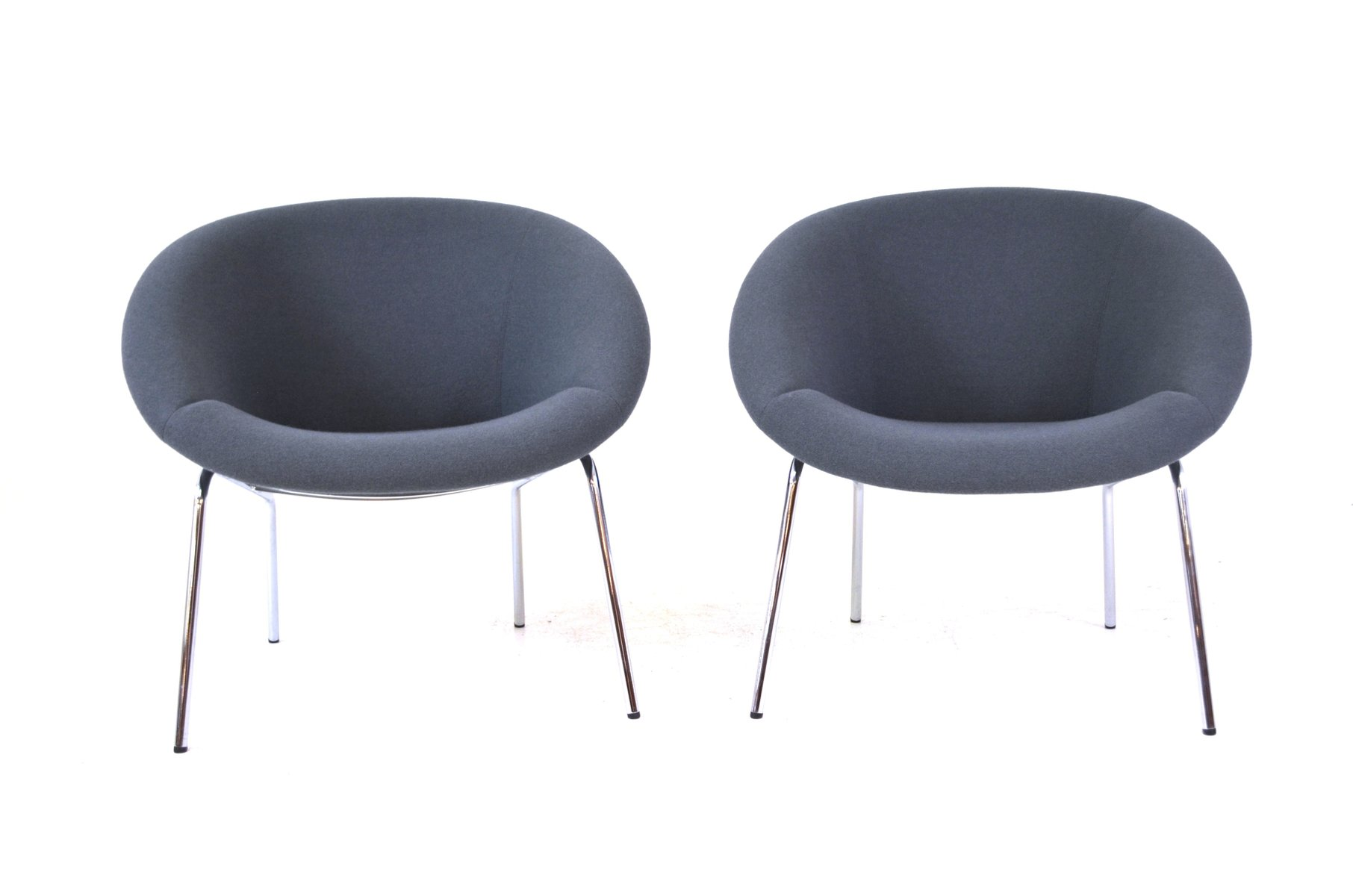model 369 easy chairs by walter knoll 1954 set of 2 for sale at pamono. Black Bedroom Furniture Sets. Home Design Ideas