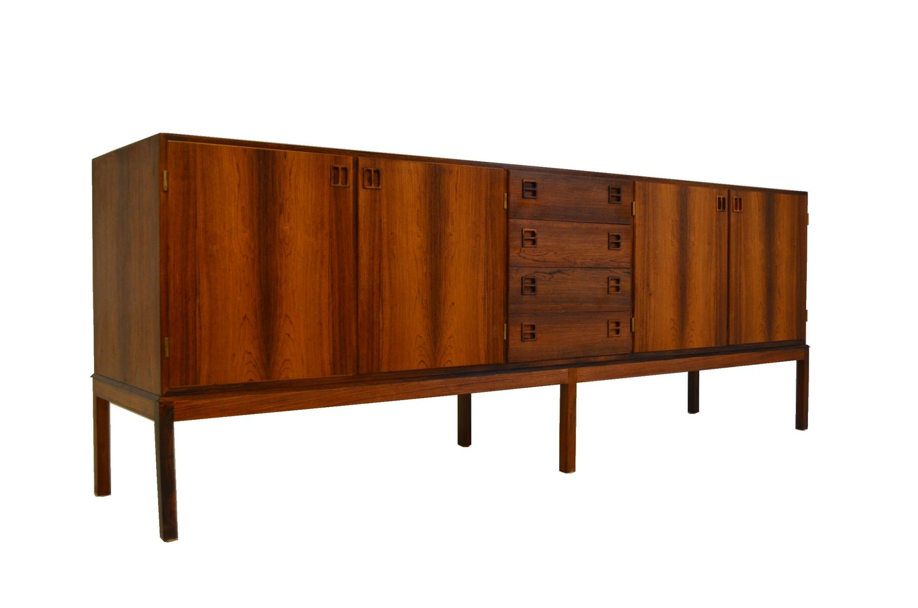 mid century sideboard by bernhard pedersen s n for bps m bler 1960s for sale at pamono. Black Bedroom Furniture Sets. Home Design Ideas