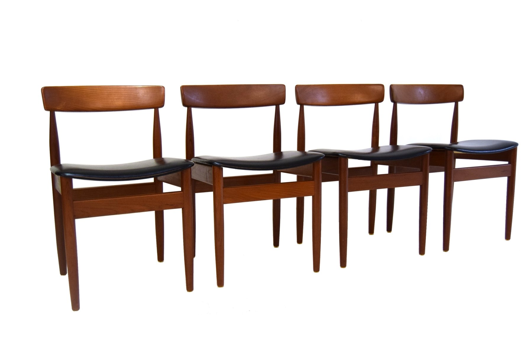 Mid Century Danish Dining Chairs 1960s Set Of 4 For Sale