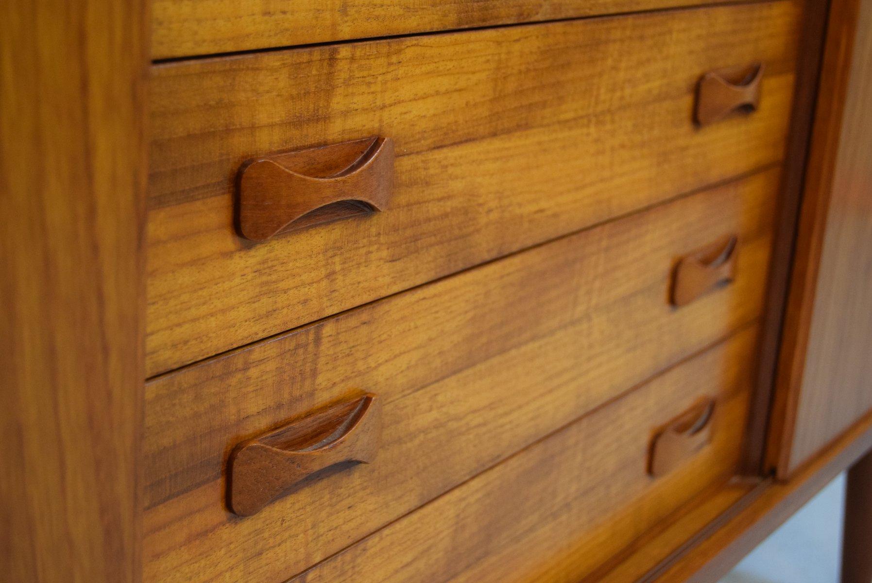 skandinavisches teak sideboard von clausen s n 1960er. Black Bedroom Furniture Sets. Home Design Ideas