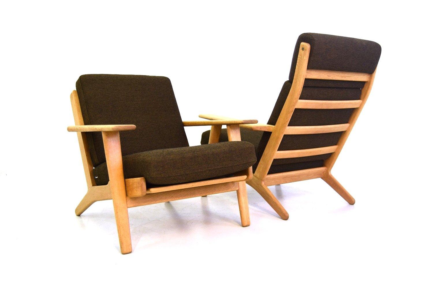 ge 290 hoher sessel von hans j wegner f r getama 1950er. Black Bedroom Furniture Sets. Home Design Ideas