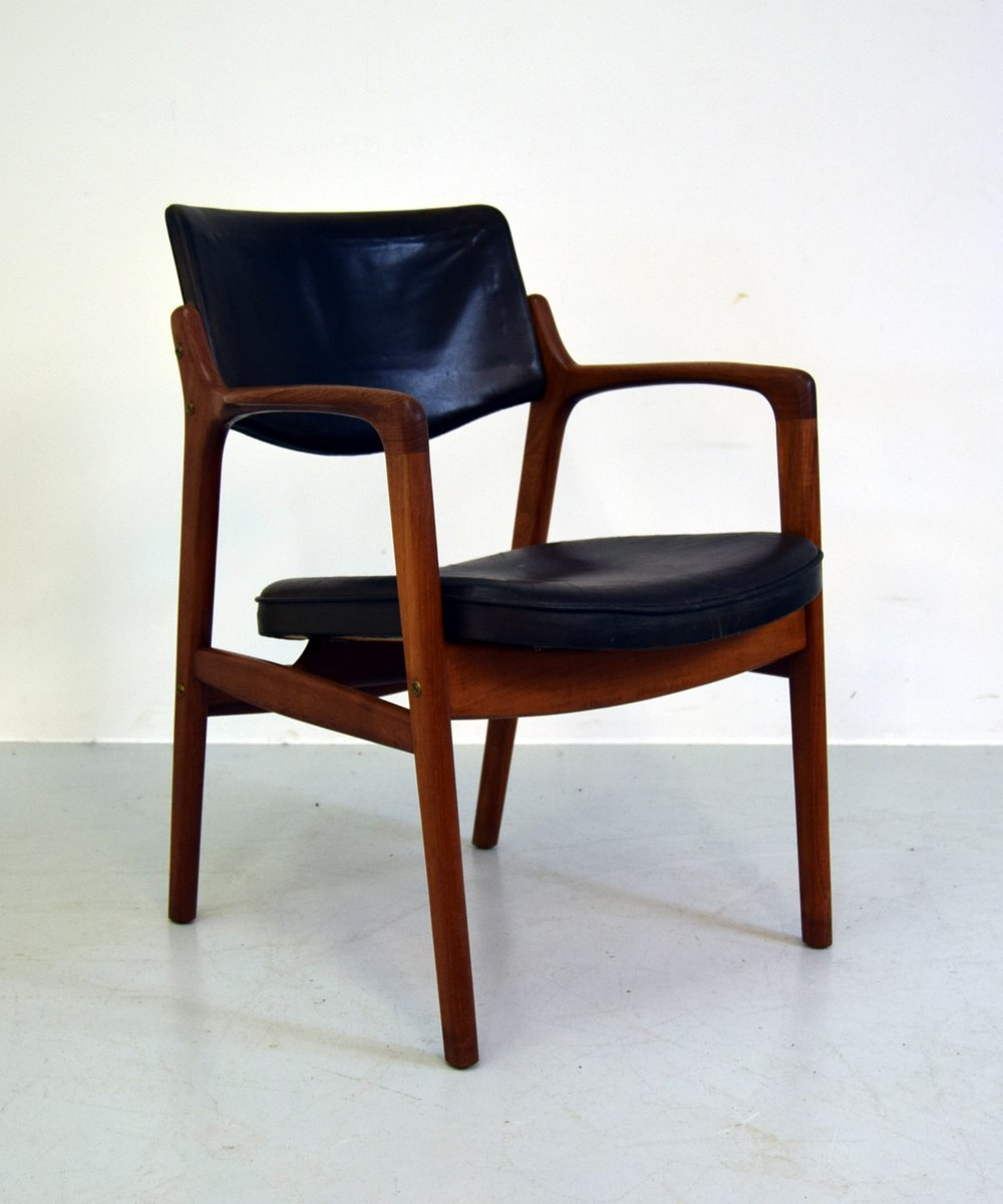 Mid century office chair by erik kirkegaard for h ng Mid century chairs