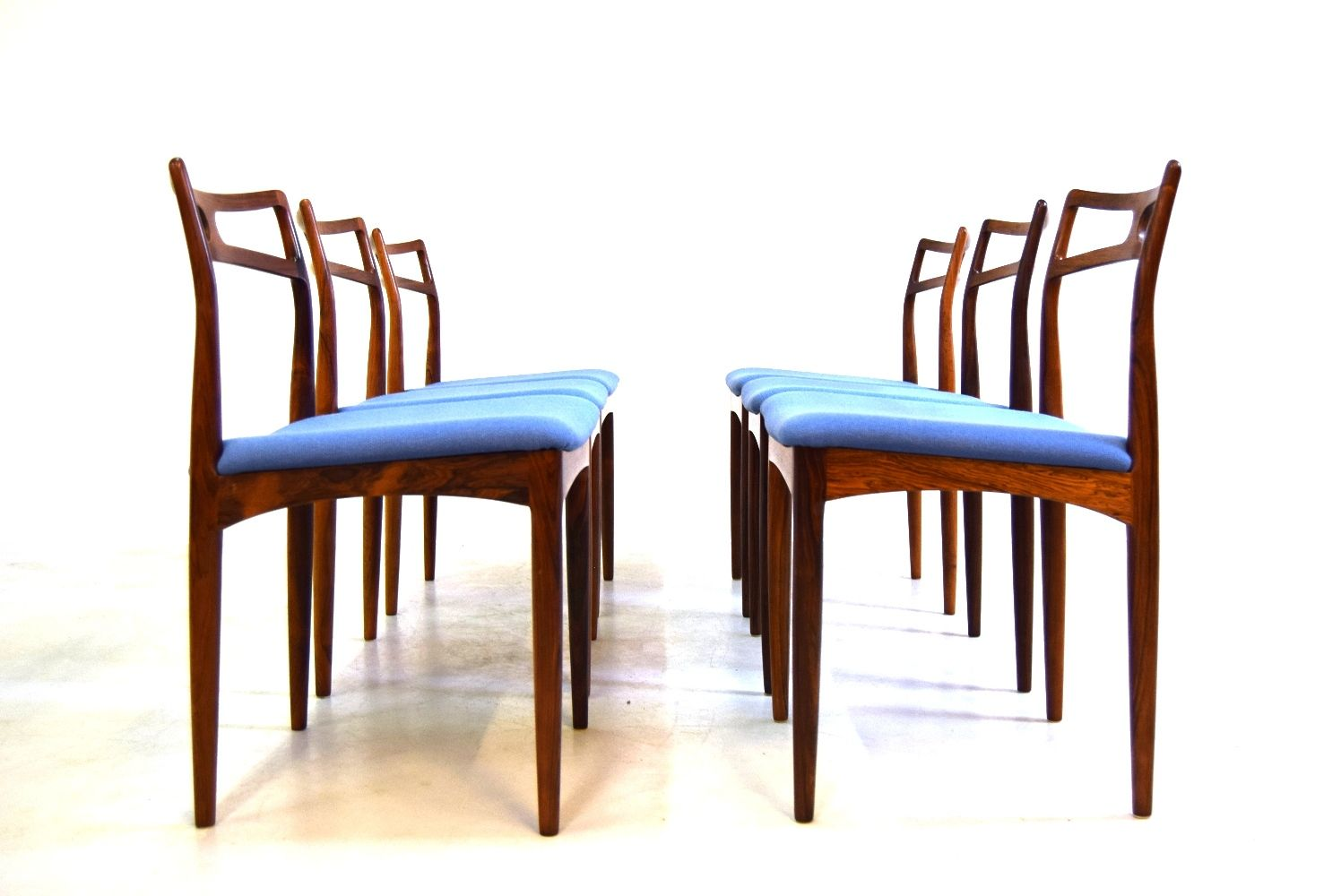 Vintage Dining Chairs By Johannes Andersen For Chr Linneberg For Sale At Pamono