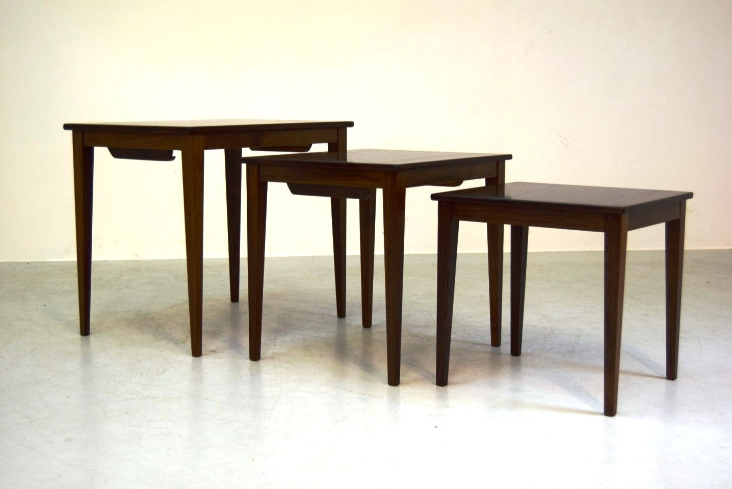 Wonderful image of Vintage Danish Rosewood Nesting Tables from VM Møbler Set of 3 for  with #301C0F color and 1436x960 pixels