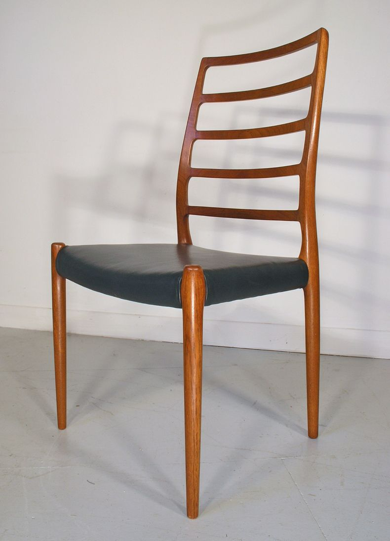 No teak dining chairs by niels moller for j l