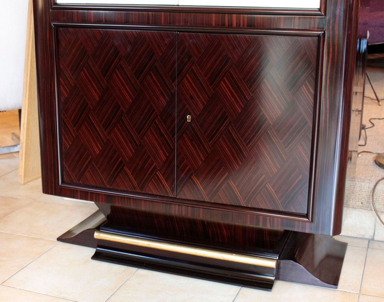 Vintage art deco ebony cabinet 1930 for sale at pamono for 1930s kitchen cabinets for sale