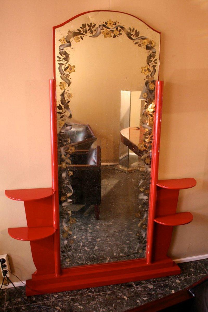vintage stehspiegel von j leleu r pansar bei pamono kaufen. Black Bedroom Furniture Sets. Home Design Ideas
