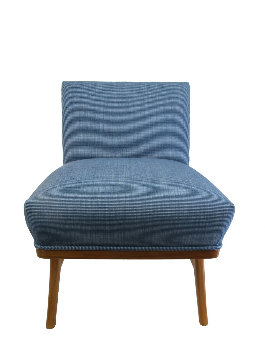 Mid Century Blue Lounge Chair for sale at Pamono