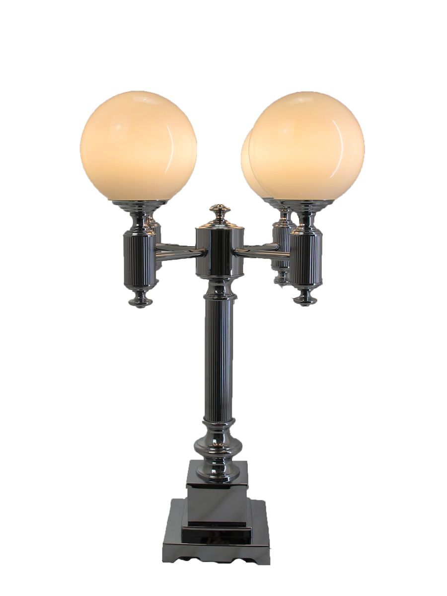 Vintage four arm table lamp with spherical shades for sale for 2 arm table lamp