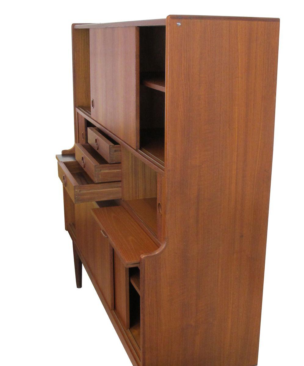 vintage teak secretary 1960s for sale at pamono. Black Bedroom Furniture Sets. Home Design Ideas