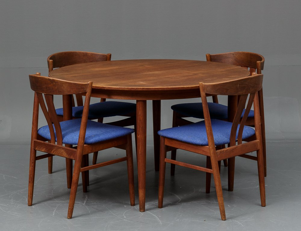 Danish Teak Dining Table with 4 Chairs from Vejle Stole og  : danish teak dining table with 4 chairs from vejle stole og mobelfabrik 1960s 1 from www.pamono.co.uk size 1000 x 766 jpeg 512kB