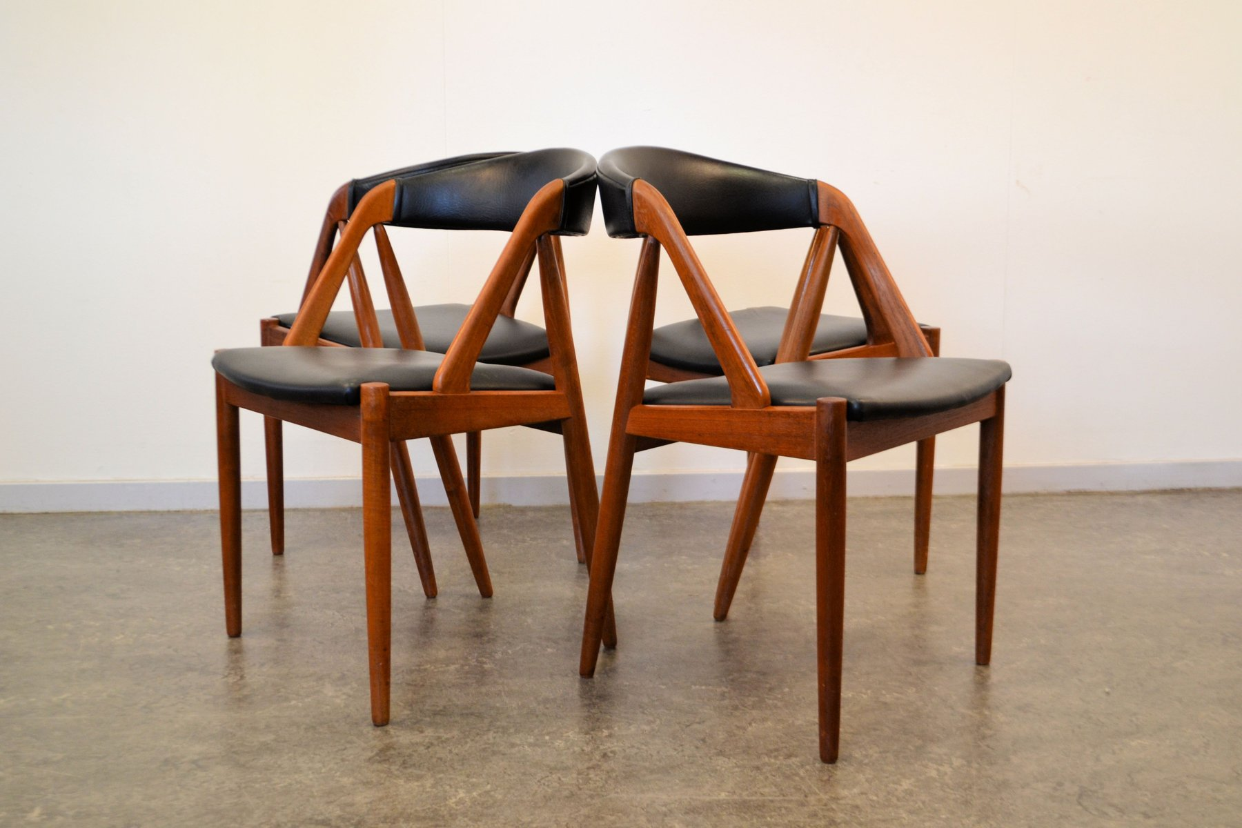 Model 31 Teak Dining Chairs by Kai Kristiansen for Schou Andersen