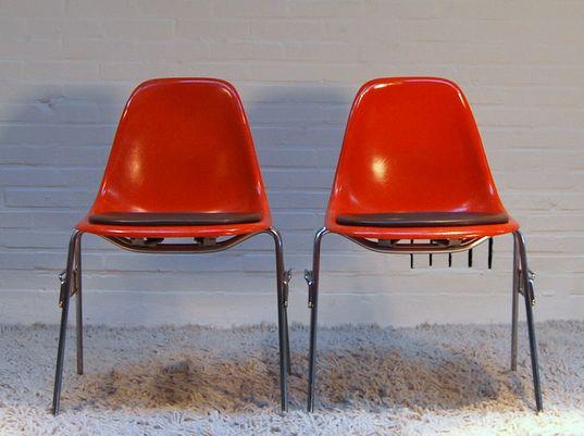 dsw st hle von charles ray eames 2er set bei pamono kaufen. Black Bedroom Furniture Sets. Home Design Ideas