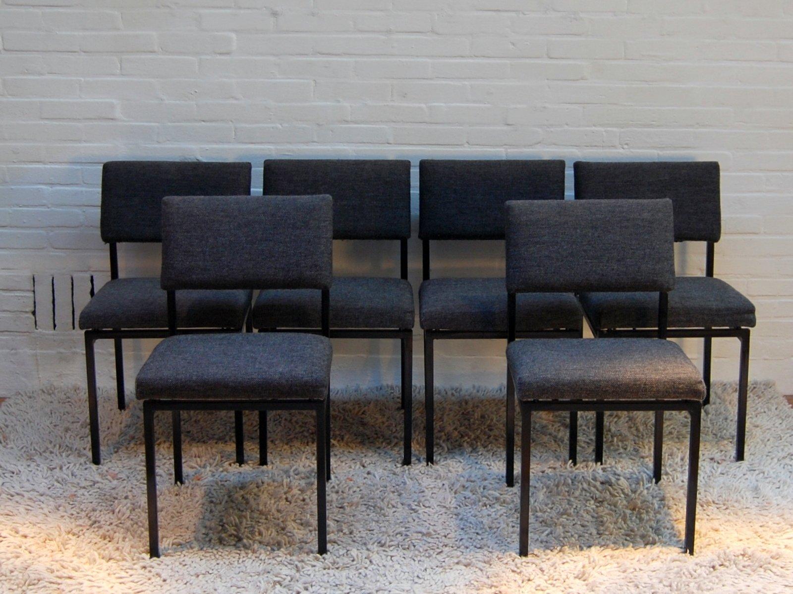 esszimmerst hle von martin visser f r 39 t spectrum 1955. Black Bedroom Furniture Sets. Home Design Ideas