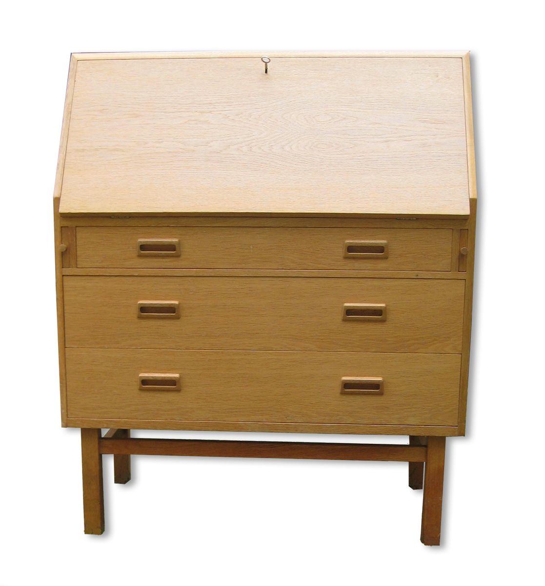 Oak writing bureau by holger jensen for fdb furnitures for Bureau for sale
