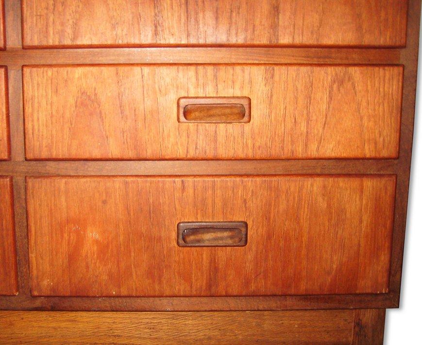 Danish Teak Linen Cabinet for sale at Pamono