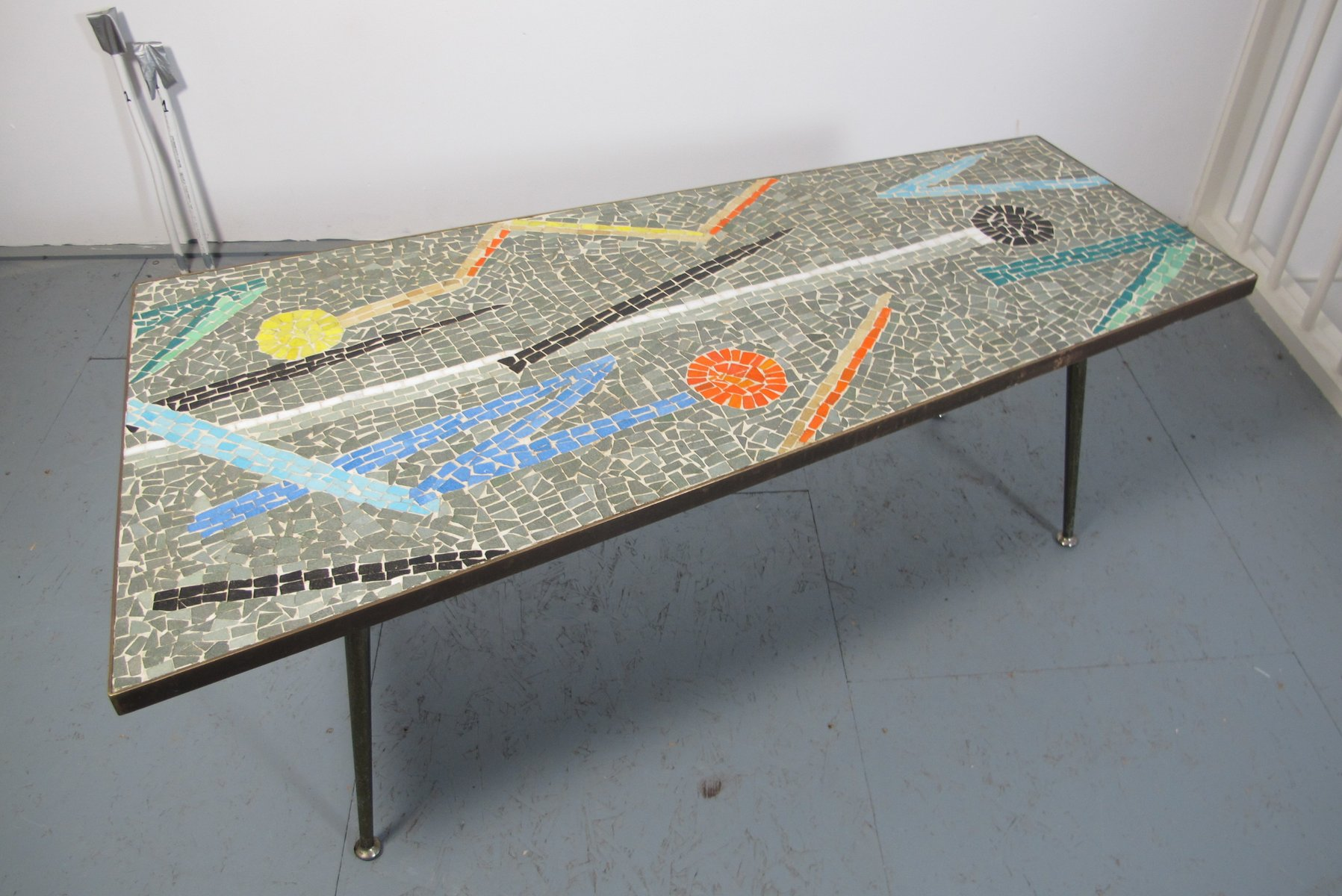 Asymmetric mosaic coffee table 1950s for sale at pamono for Mosaic coffee table designs