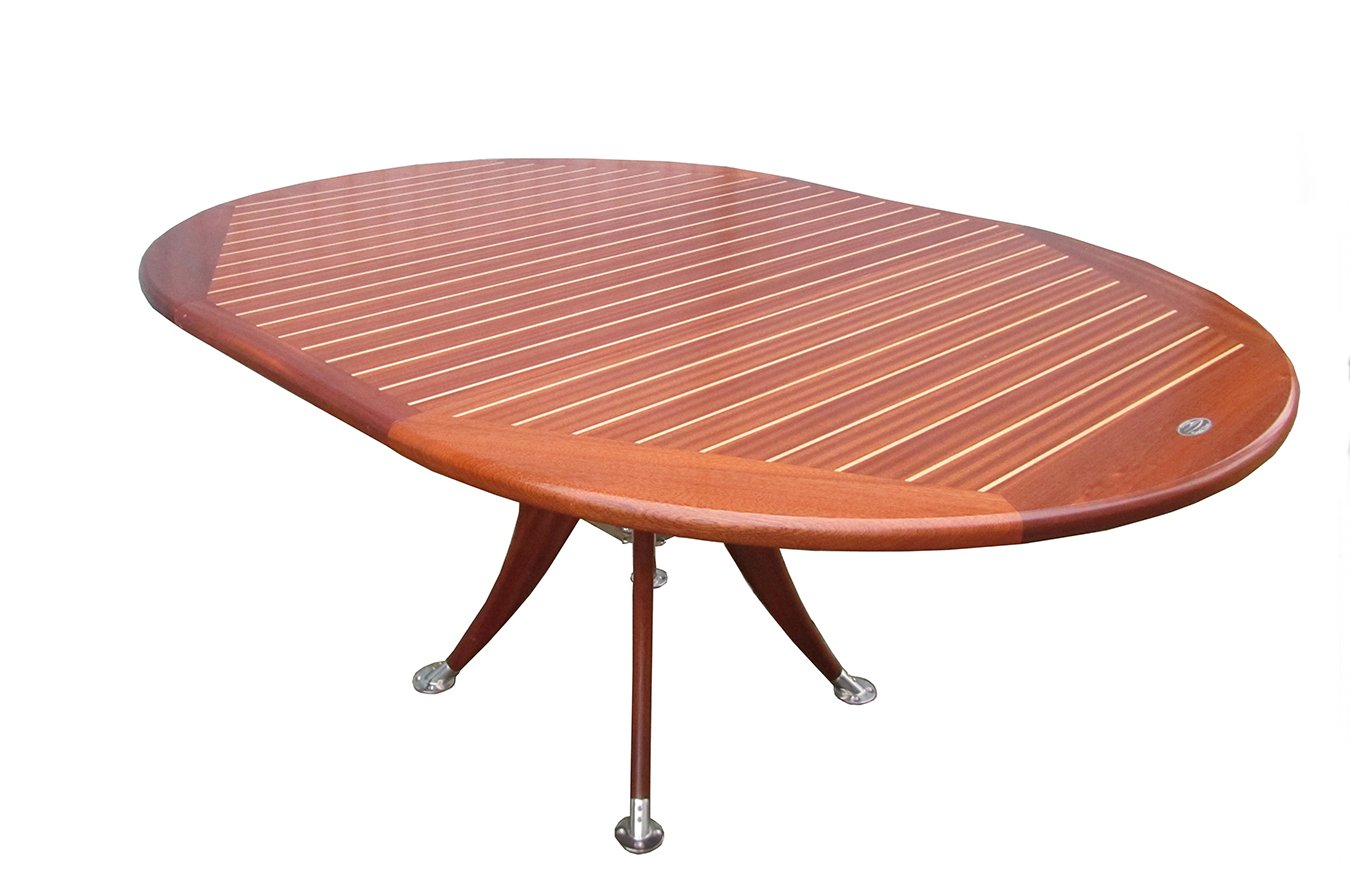 Vintage Extendable Round Deck Table from Deckline for sale at Pamono