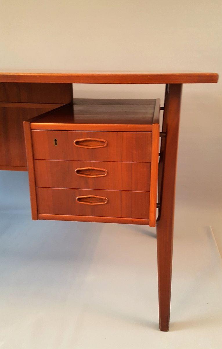 D nischer vintage palisander schreibtisch mit sechs for Schreibtisch mit vielen schubladen