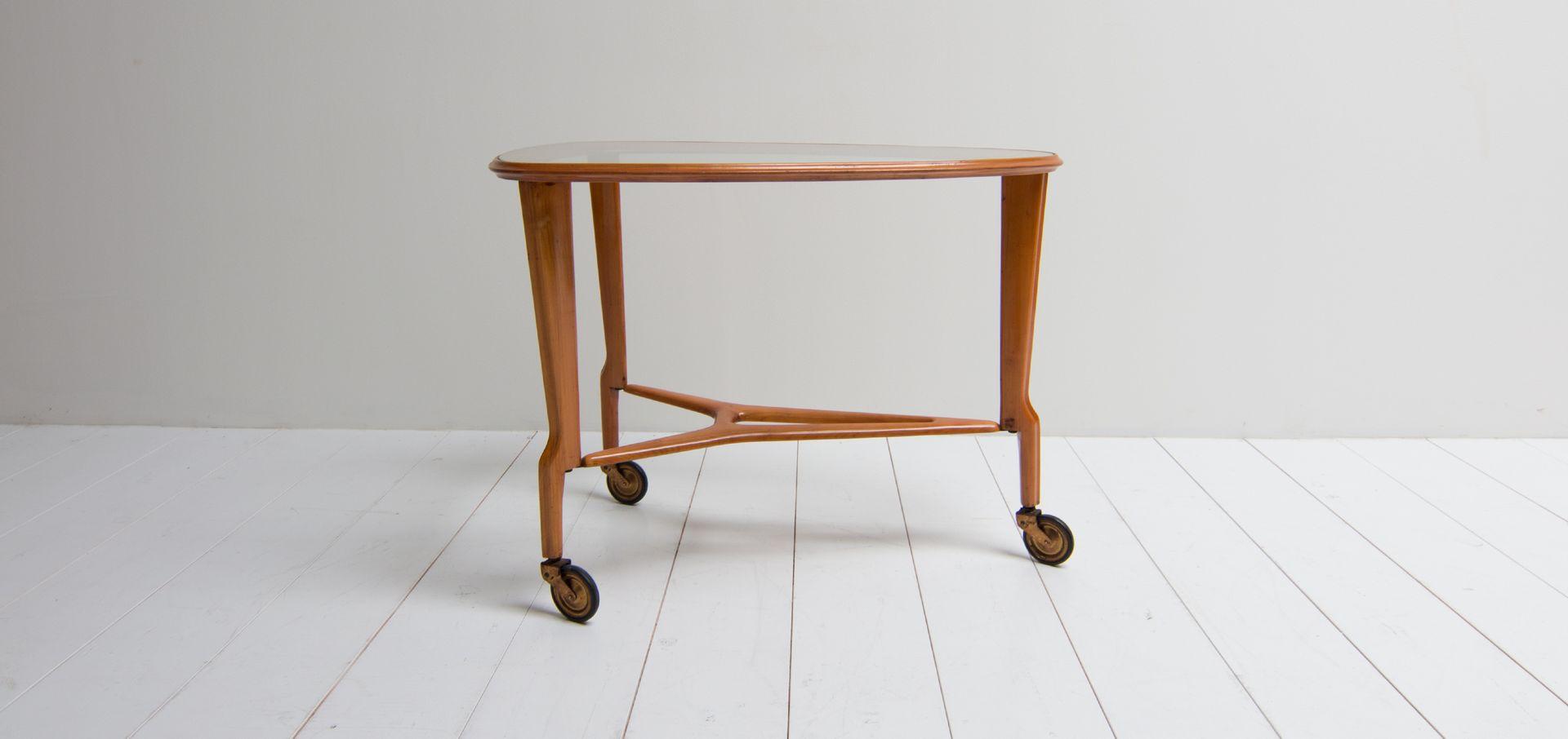 d nischer vintage holz glas couchtisch 1960er bei. Black Bedroom Furniture Sets. Home Design Ideas