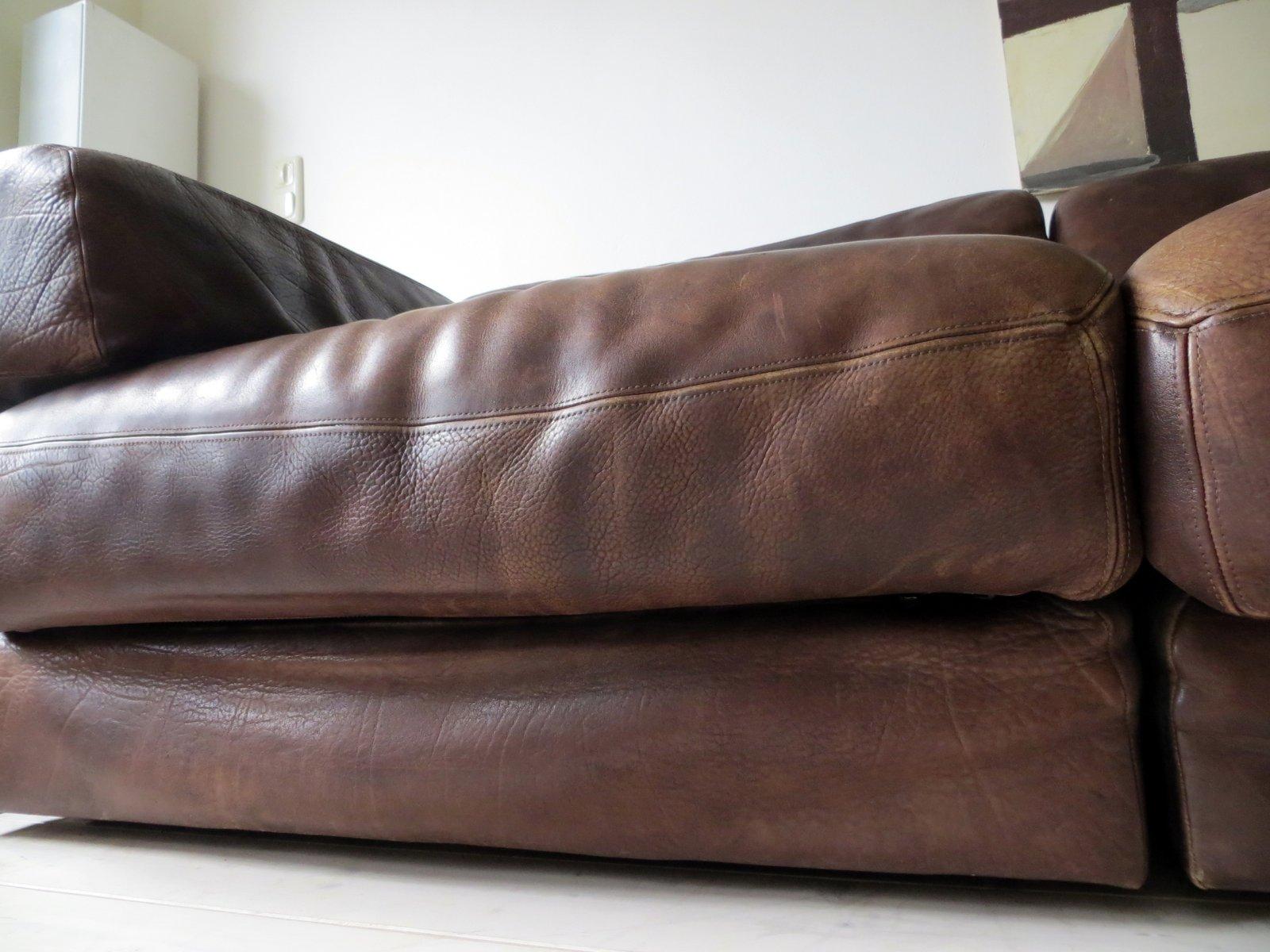 vintage ds 76 sofa aus dickem nackenleder von de sede 1970er bei pamono kaufen. Black Bedroom Furniture Sets. Home Design Ideas