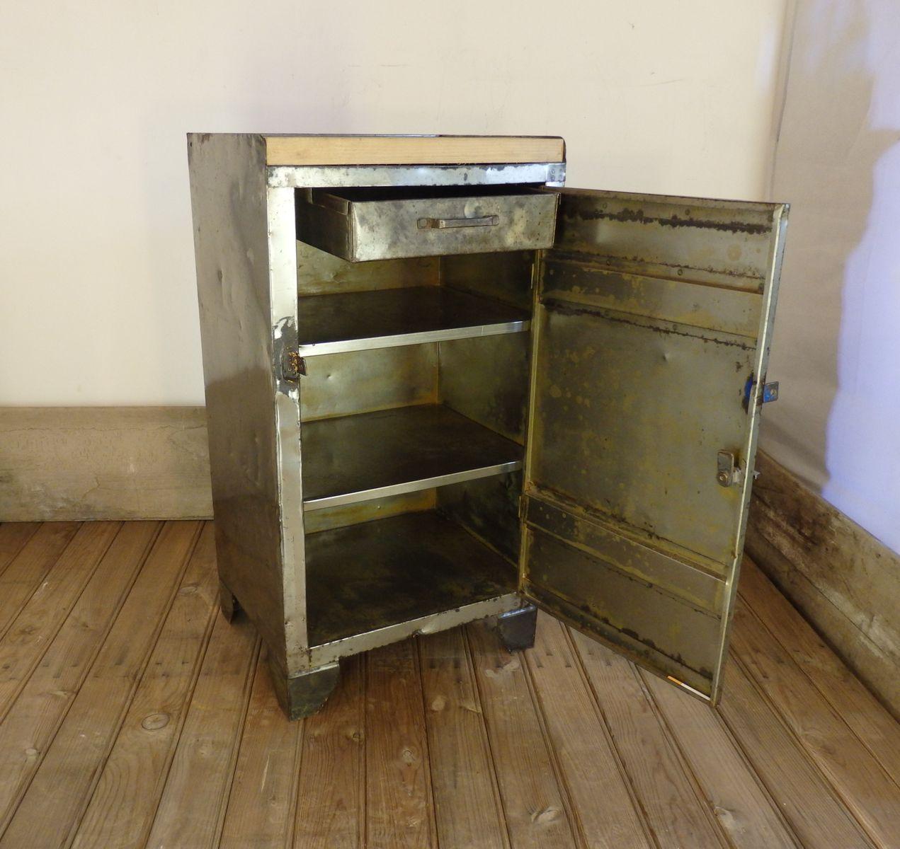 Werkstatt Schrank mit Oberseite aus Eiche bei Pamono kaufen