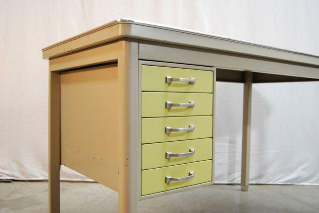 industrie schreibtisch von ahrend oda 1950er bei pamono kaufen. Black Bedroom Furniture Sets. Home Design Ideas