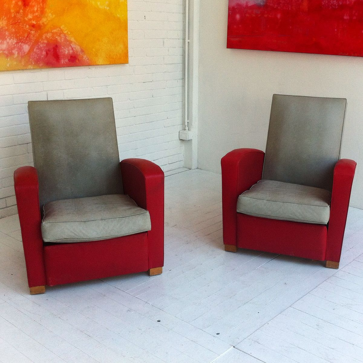 Sky couple sessel in rot beige 2er set bei pamono kaufen for Sessel in rot