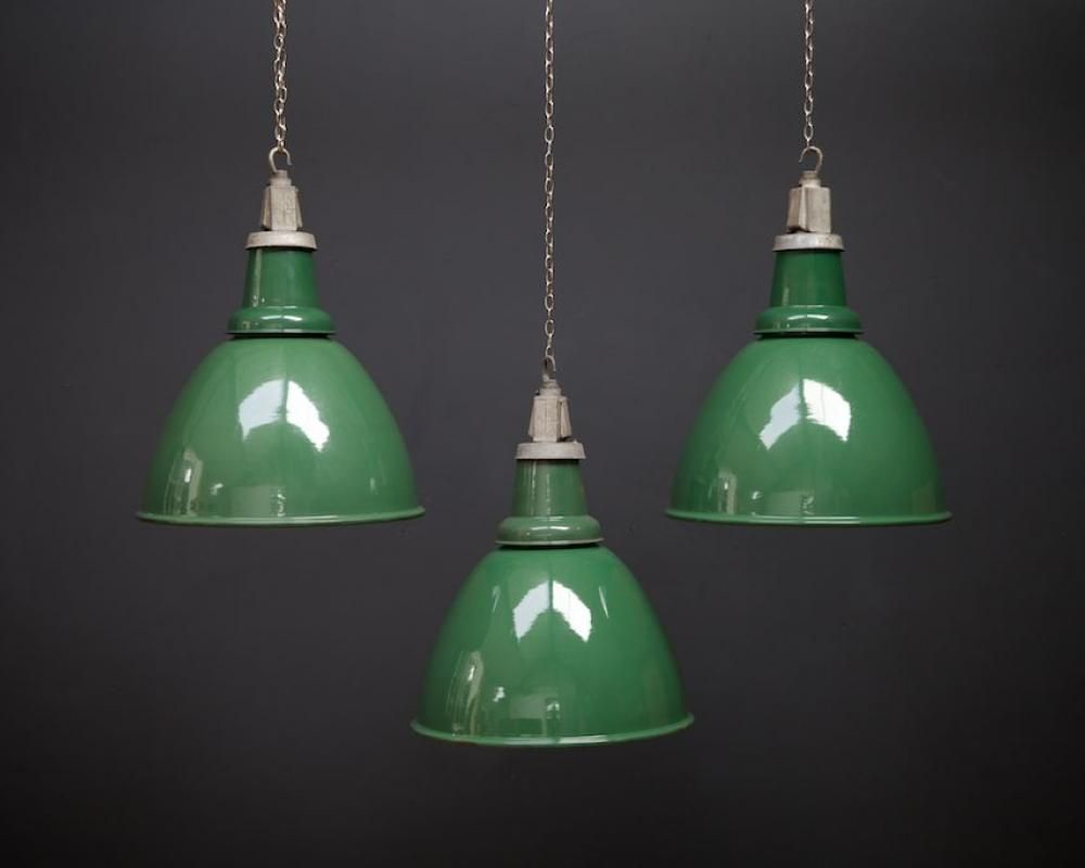 Industrial Green Pendant Light For Sale At Pamono