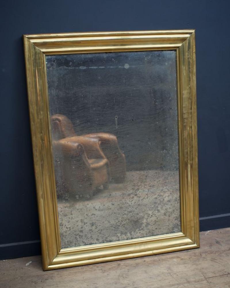 bistro spiegel mit schwarzem rahmen 1880er bei pamono kaufen. Black Bedroom Furniture Sets. Home Design Ideas
