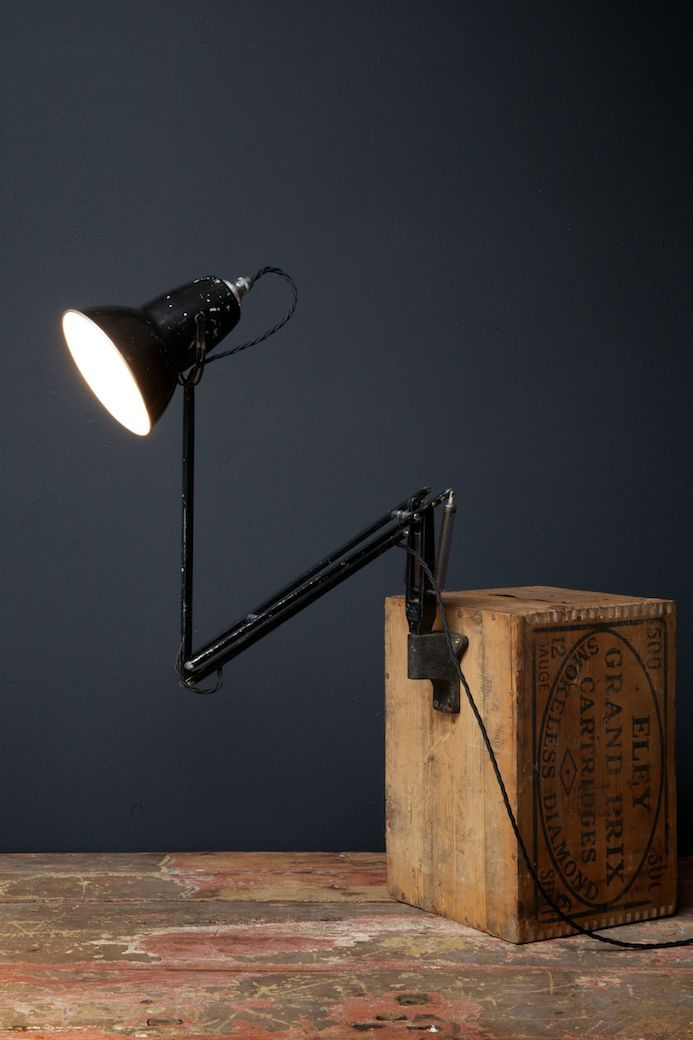Wall Mounted Work Lights : Wall Mounted Anglepoise Work Light from Herbert Terry, 1930s for sale at Pamono