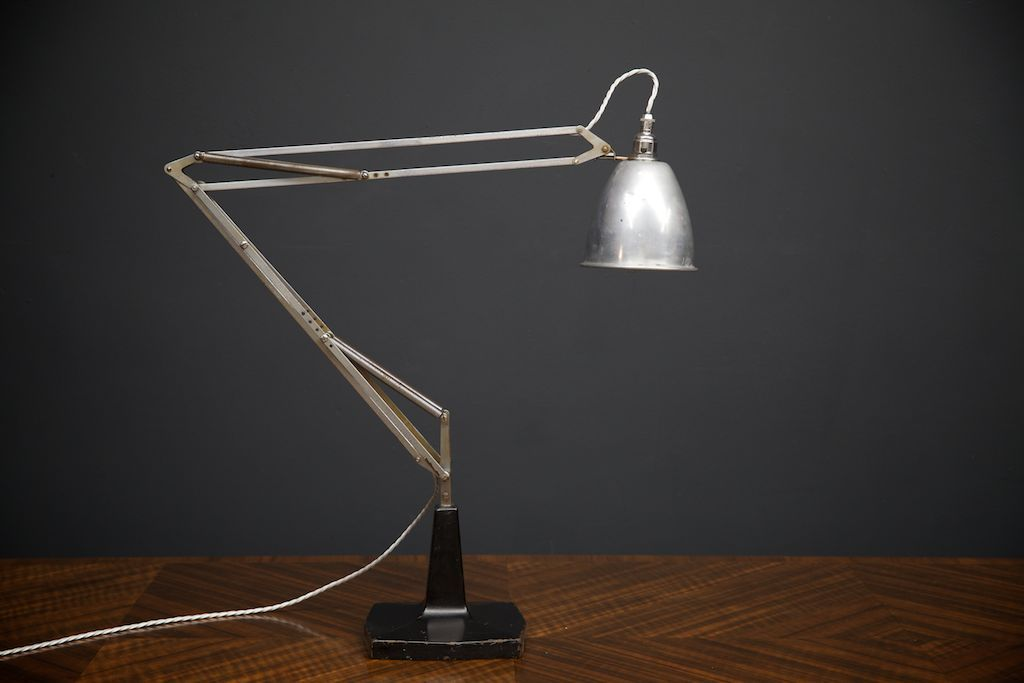 Large anglepoise desk lamp by herbert terry 1930s for sale at pamono - Large anglepoise lamp ...