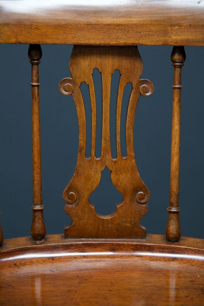 Antique Lyre Back Arm Chairs, 1830, Set of 2 - Antique Lyre Back Arm Chairs, 1830, Set Of 2 For Sale At Pamono