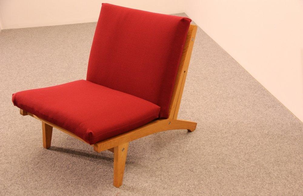ge 370 sessel von hans j wegner 1960er bei pamono kaufen. Black Bedroom Furniture Sets. Home Design Ideas
