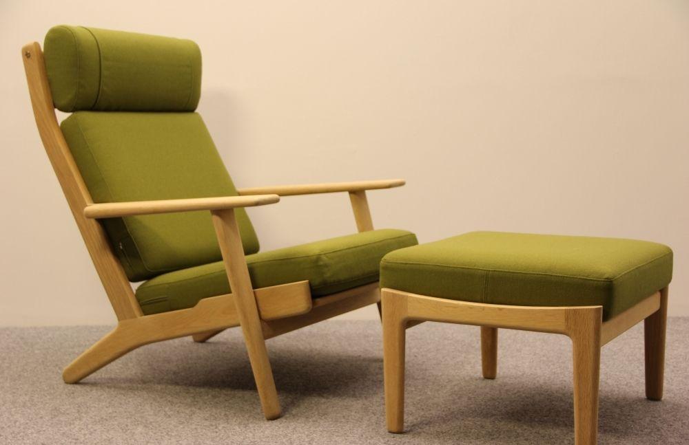 ge290a sessel von hans j wegner 1970er bei pamono kaufen. Black Bedroom Furniture Sets. Home Design Ideas