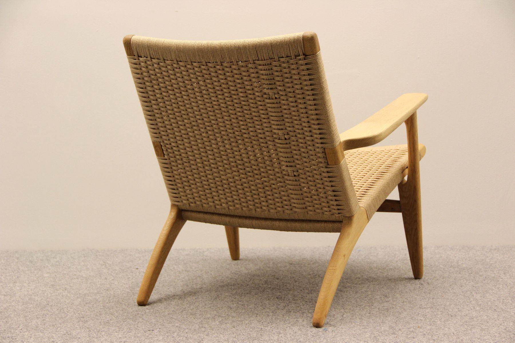 ch25 easy chair by hans j wegner for carl hansen 1950s. Black Bedroom Furniture Sets. Home Design Ideas