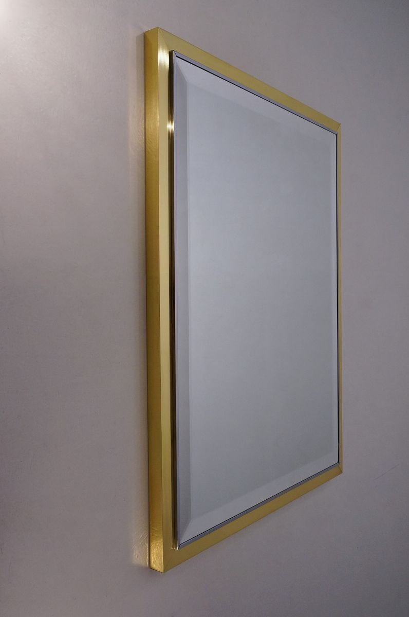 Chrome Wall Mirror vintage italian brass and chrome wall mirror, 1970s for sale at pamono