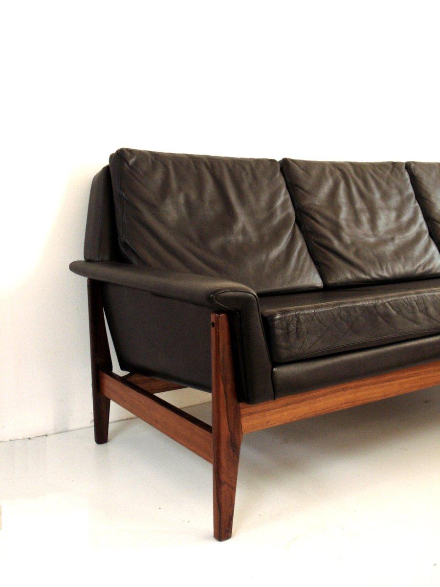 vintage drei sitzer sofa aus leder von bovenkamp bei pamono kaufen. Black Bedroom Furniture Sets. Home Design Ideas
