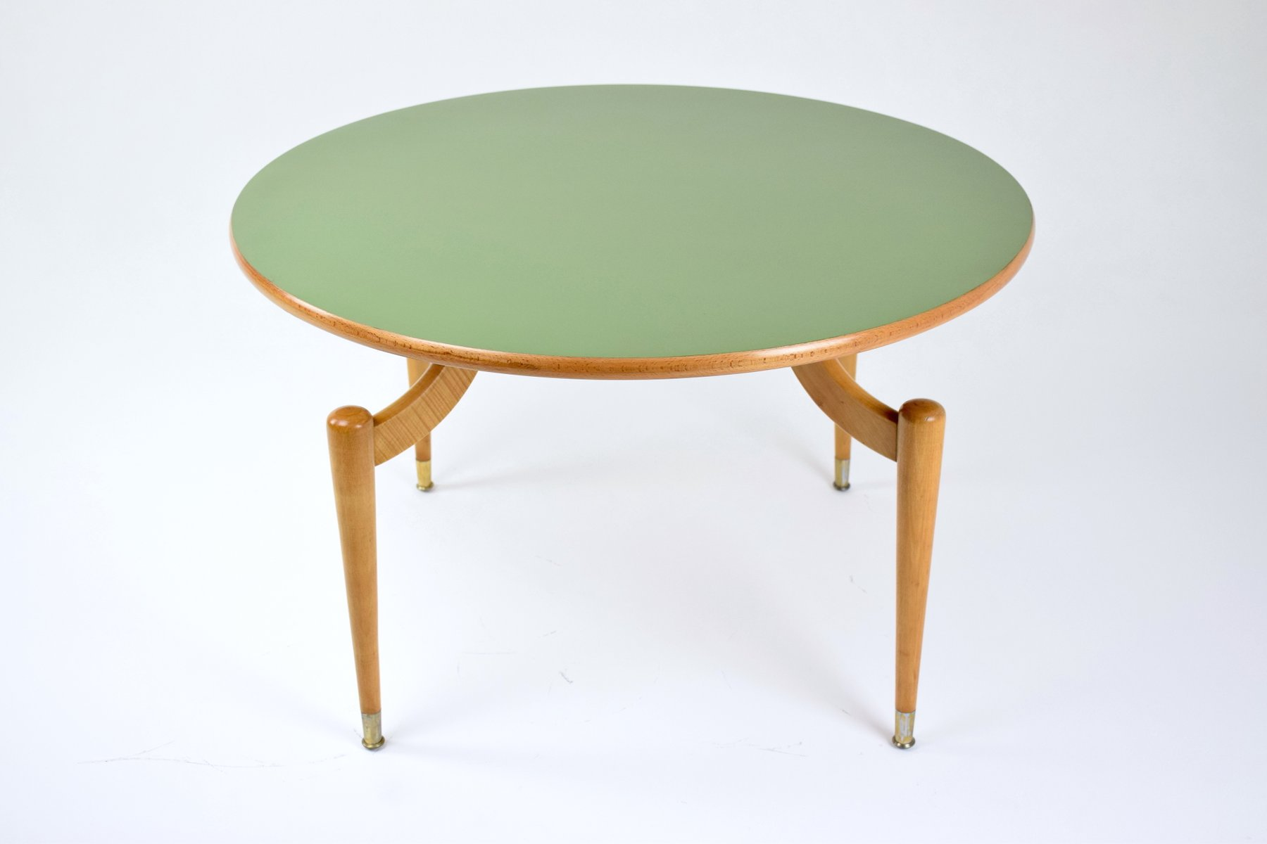 Round Coffee Table with Formica Top 1950s for sale at Pamono
