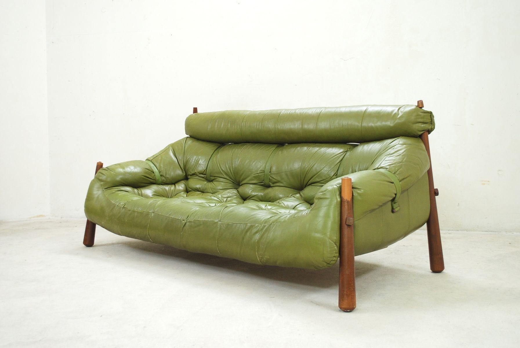 gr nes lounge sofa von percival lafer 1958 bei pamono kaufen. Black Bedroom Furniture Sets. Home Design Ideas
