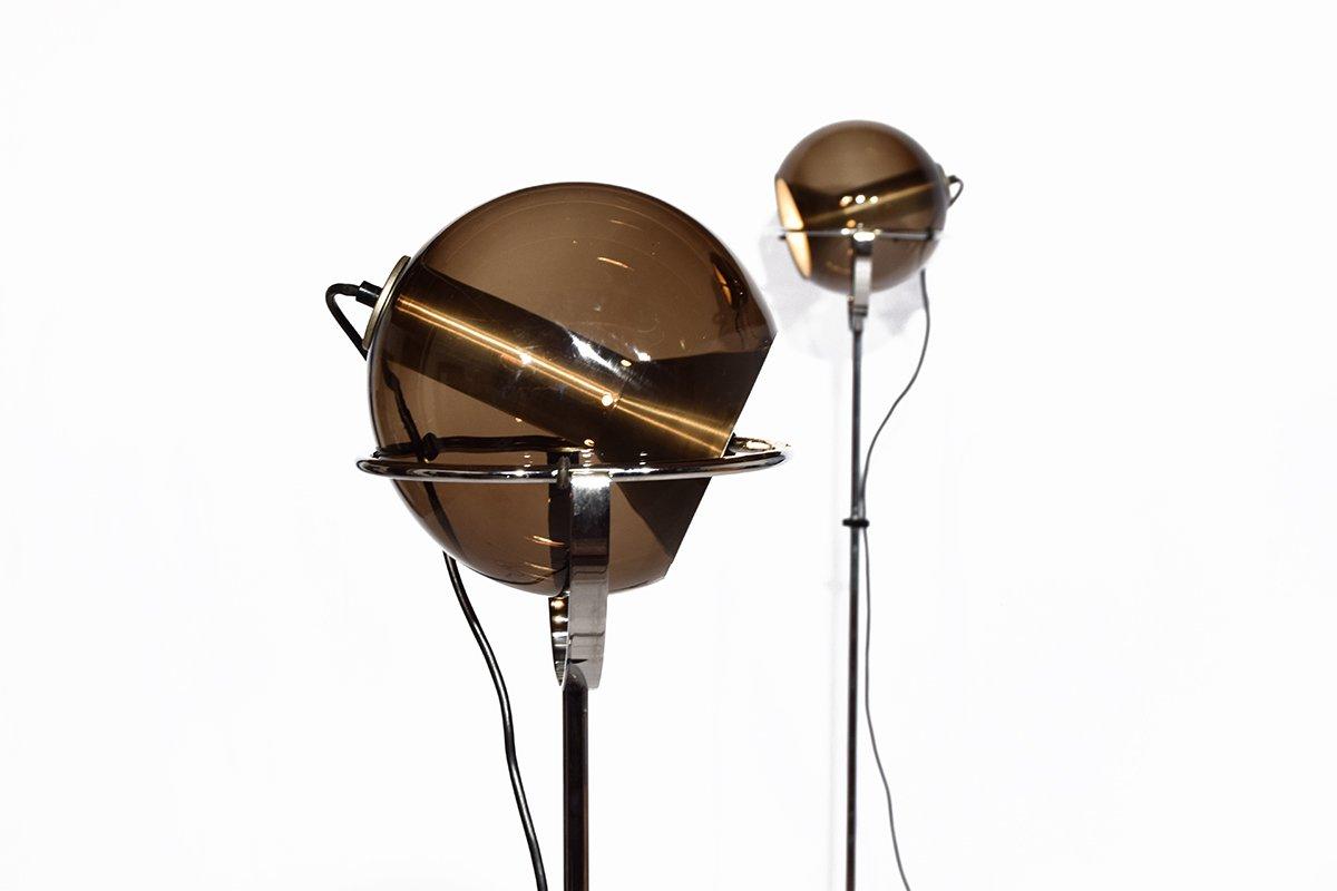 globus stehlampen von frank ligtelijn f r raak 1960er 2er set bei pamono kaufen. Black Bedroom Furniture Sets. Home Design Ideas