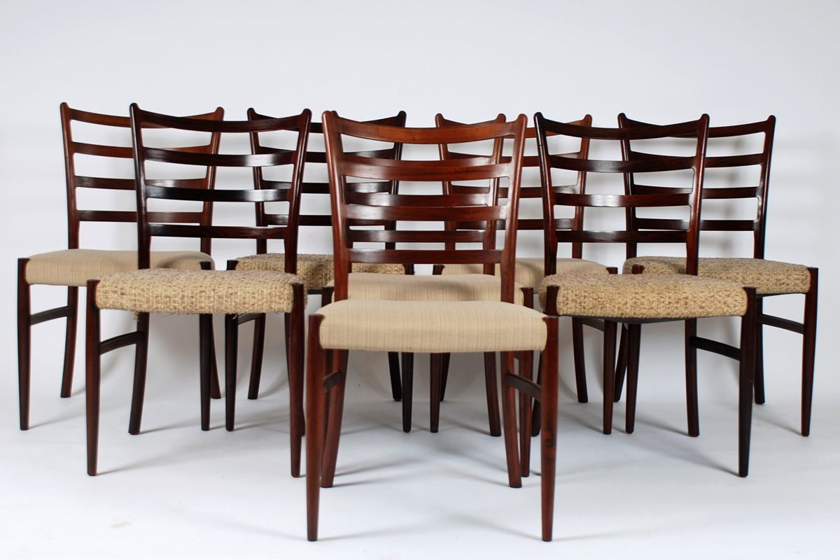 Rosewood Dining Chairs by V. S. Andersen for SVA Furniture, Set of ...