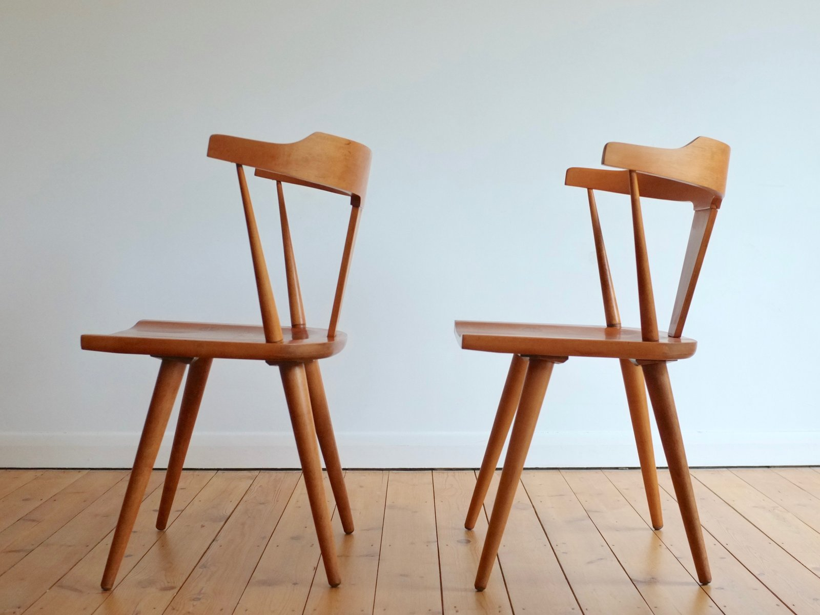 Charming Planner Groups Chairs By Paul McCobb For Winchendon Furniture Company,  1950s, Set Of 2