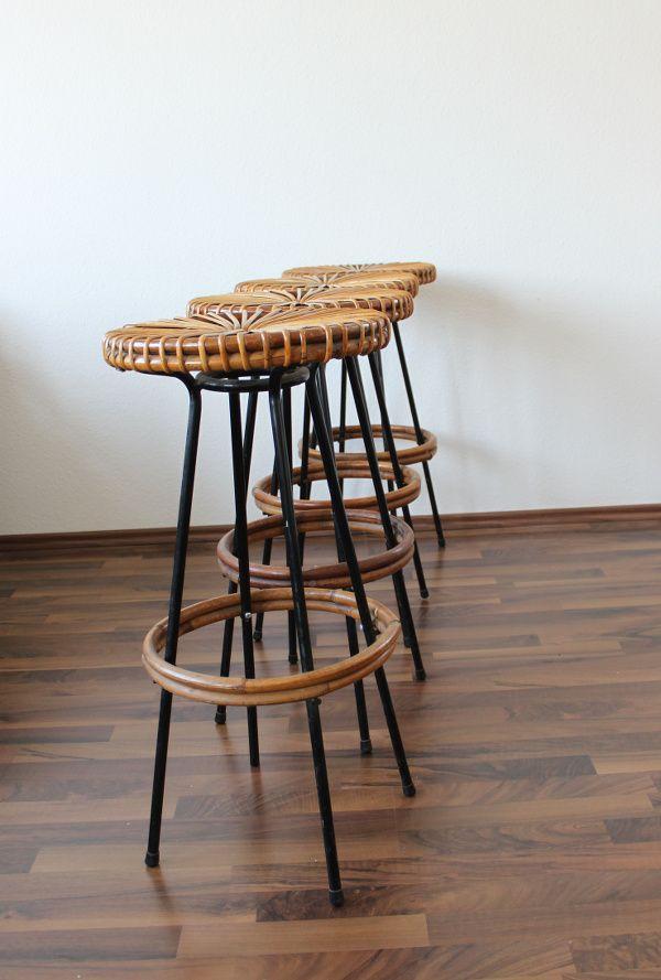 Tiki Tiki Bar Stools with Hawaiian String Design 1960s  : tiki tiki bar stools with hawaiian string design 1960s set of 4 12 from www.pamono.co.uk size 600 x 889 jpeg 176kB