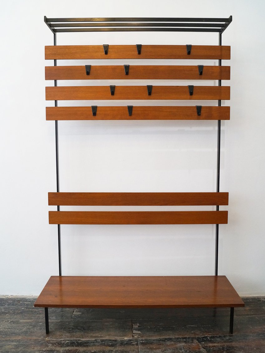 mid century coat and shoe rack for sale at pamono. Black Bedroom Furniture Sets. Home Design Ideas